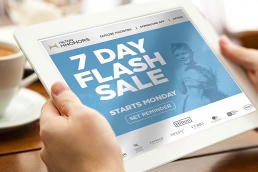 Hilton flash sales